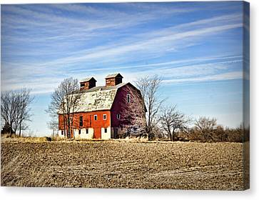 Monroe County Barn Canvas Print by Cricket Hackmann