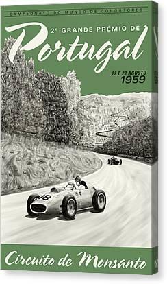 Monsanto Portugal Grand Prix 1959 Canvas Print by Georgia Fowler