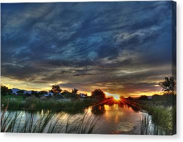 Monsoon Sunset Canvas Print by Tam Ryan