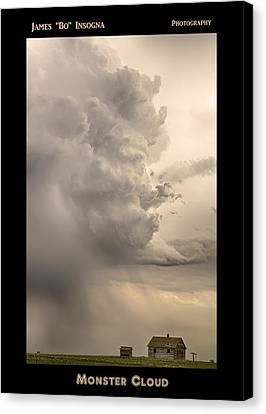 Monster Cloud Poster Canvas Print by James BO  Insogna