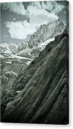 Mont Blanc Glacier Canvas Print by Frank Tschakert