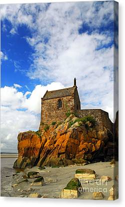 Mont Saint Michel Abbey Fragment Canvas Print by Elena Elisseeva