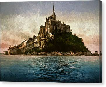 Mont Saint Michel Canvas Print by John K Woodruff