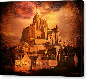 Mont Saint-michel Canvas Print by Kylie Sabra