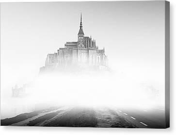 Mont Saint-michel Canvas Print by Sebastian Musial