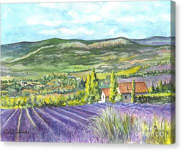 Montagne De Lure In Provence France Canvas Print by Carol Wisniewski