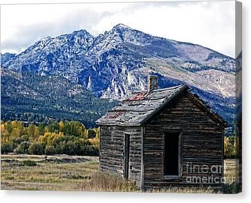 Montana Cabin Canvas Print by Joseph J Stevens