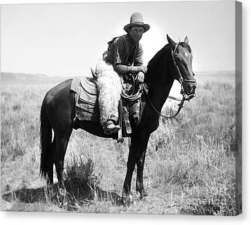 Montana Cowboy 1904 Canvas Print by Granger
