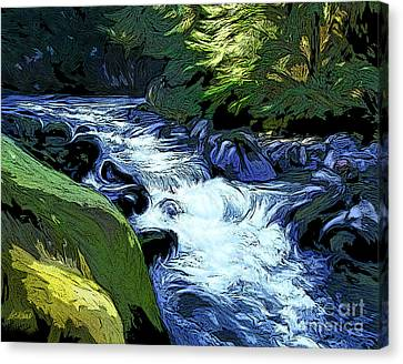 Montana Creek Canvas Print by Dorinda K Skains