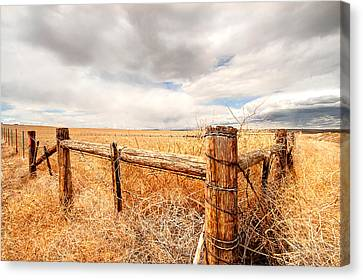 Montana Fencepost Canvas Print by Wendy Thompson