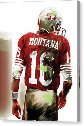 Montana II  Joe Montana Canvas Print by Iconic Images Art Gallery David Pucciarelli