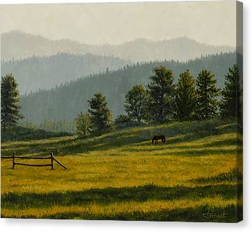 Montana Morning Canvas Print by Crista Forest