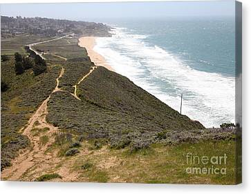 Montara State Beach Pacific Coast Highway California 5d22632 Canvas Print by Wingsdomain Art and Photography