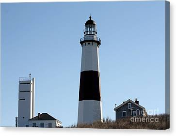 Montauk Lighthouse As Seen From The Beach Canvas Print by John Telfer