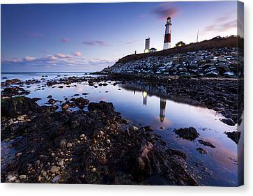 Montauk Lighthouse Reflections Canvas Print by Ryan Moore