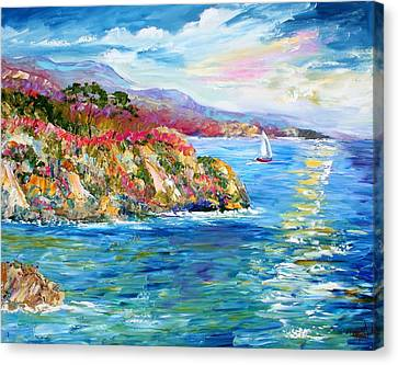 Monterey California Spring Canvas Print by Karen Tarlton