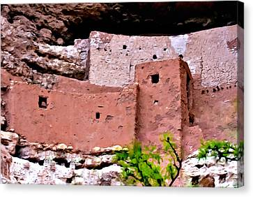 Montezuma Castle  Canvas Print by Bob and Nadine Johnston