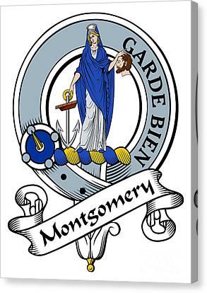 Montgomery Clan Badge Canvas Print by John Lehman