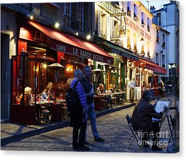 Montmartre Artist Canvas Print by Colin Woods