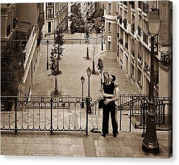 Montmartre Moment Canvas Print by Nikolyn McDonald