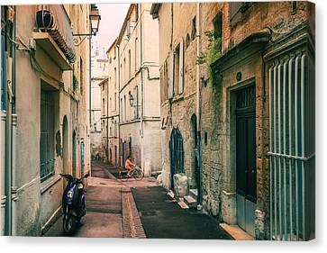 Montpellier - France - Street In The Afternoon Canvas Print by Vivienne Gucwa