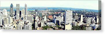 Montreal City View From Mont Royal Canvas Print by Lingfai Leung