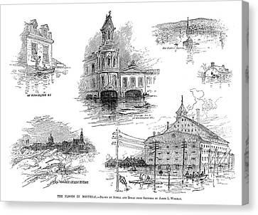 Montreal Flood, 1886 Canvas Print by Granger