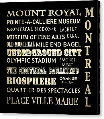 Montreal Quebec Famous Landmarks Canvas Print by Patricia Lintner
