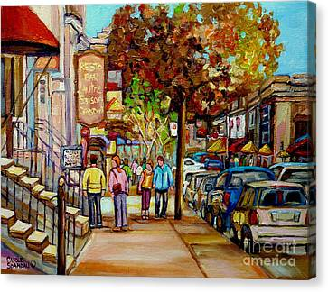 Montreal Streetscenes By Cityscene Artist Carole Spandau Over 500 Montreal Canvas Prints To Choose  Canvas Print by Carole Spandau