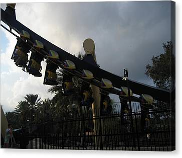 Montu Roller Coaster - Busch Gardens Tampa - 01139 Canvas Print by DC Photographer
