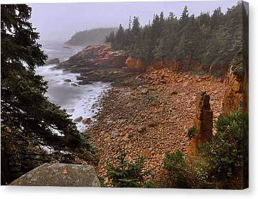 Down East Canvas Print featuring the photograph Monument Cove - Acadia by Stephen  Vecchiotti