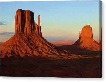 Monument Valley 2 Canvas Print by Ayse Deniz