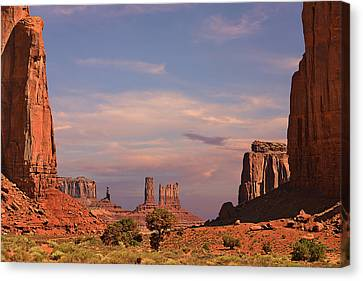 Monument Valley - Mars-like Terrain Canvas Print by Christine Till