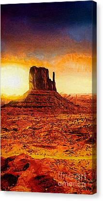 Monument Valley Canvas Print by Mo T