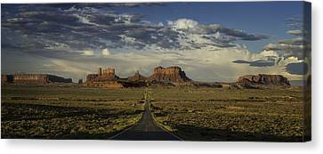 Monument Valley Panorama Canvas Print by Steve Gadomski