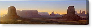 Monument Valley Sunset 3 Canvas Print by Mike McGlothlen