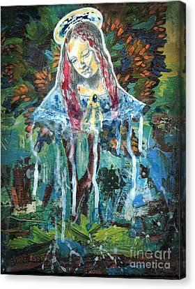 Monumental Tree Goddess Canvas Print by Genevieve Esson