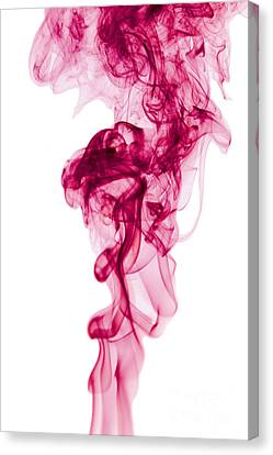 Mood Colored Abstract Vertical Deep Purple Smokel Art 01 Canvas Print by Alexandra K