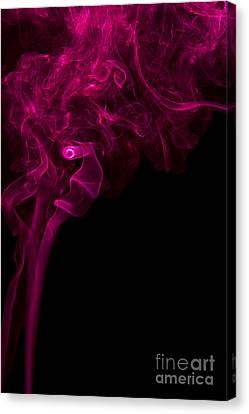Mood Colored Abstract Vertical Purple Smoke Wall Art 01 Canvas Print by Alexandra K