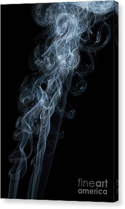 Abstract Vertical White Mood Colored Smoke Wall Art 01 Canvas Print by Alexandra K