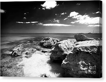 Moody In Cascais Canvas Print by John Rizzuto