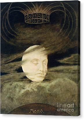 Moon Canvas Print by Hans Thoma