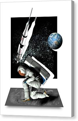 Moon Landing Canvas Print by Victor Habbick Visions