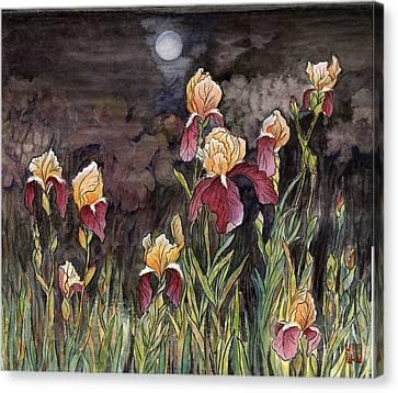 Moon Light At My Backyard Canvas Print by Ping Yan