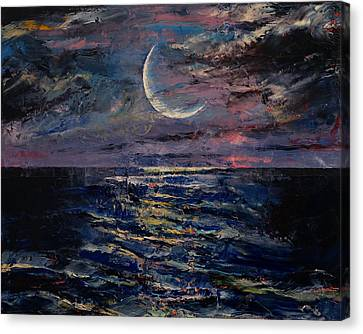 Moon Canvas Print by Michael Creese