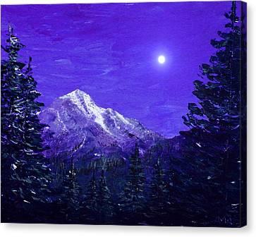 Moon Mountain Canvas Print by Anastasiya Malakhova