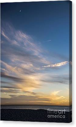 Moon Over Doheny Canvas Print by Peggy Hughes