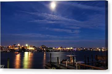 Moon Over Wildwood Canvas Print by Gerald Barton