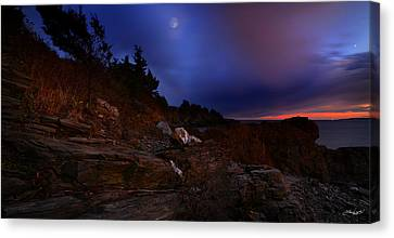 Moon Serenade Canvas Print by Lourry Legarde