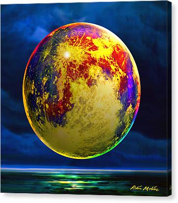 Moon Shadowed Canvas Print by Robin Moline